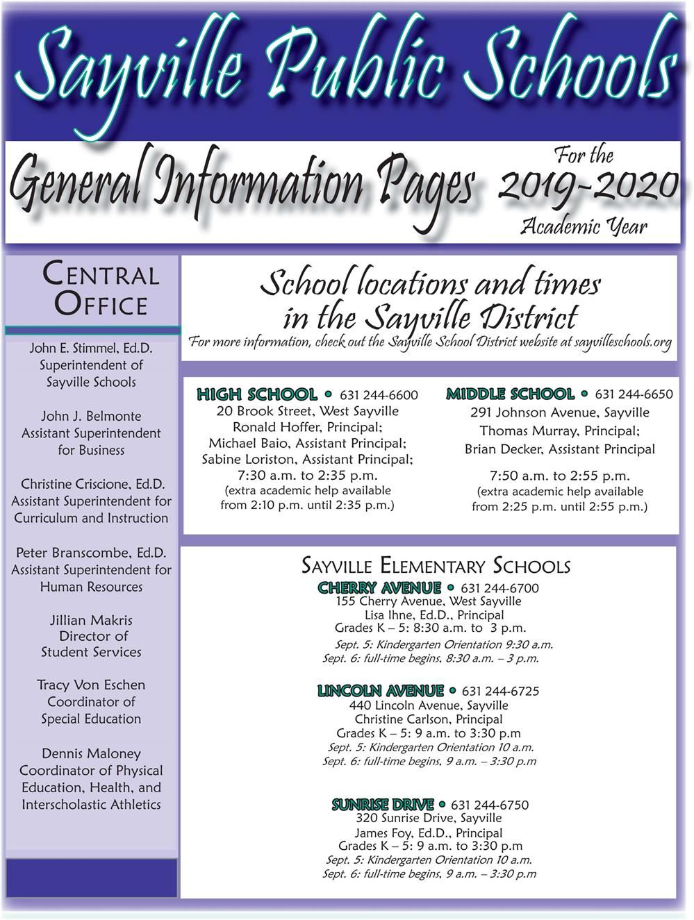 2019-2020 District Information Booklet