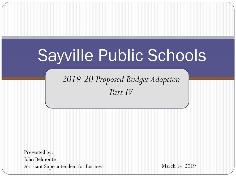 Business Office / 2019-2020 Proposed-Budget Process with BOE