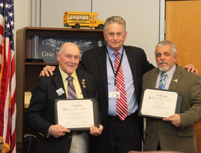 John Verdone and Norm deVenau received New York State School Boards Recognition - Board Mastery Leve