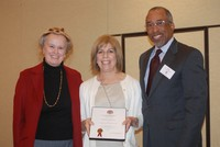 Mrs. Kathy Bernstein with Judy Esterquest and Dr. Eric Eversley,