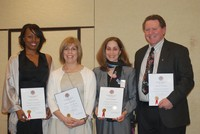 Mrs. Kathy Bernstein  with the three other Fellows: Betsy Siegelbaum, Serena McCalla, and Gary Vor