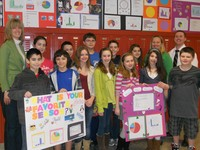 Sayville sixth-grade students discovered their favorite things could make interesting math projects