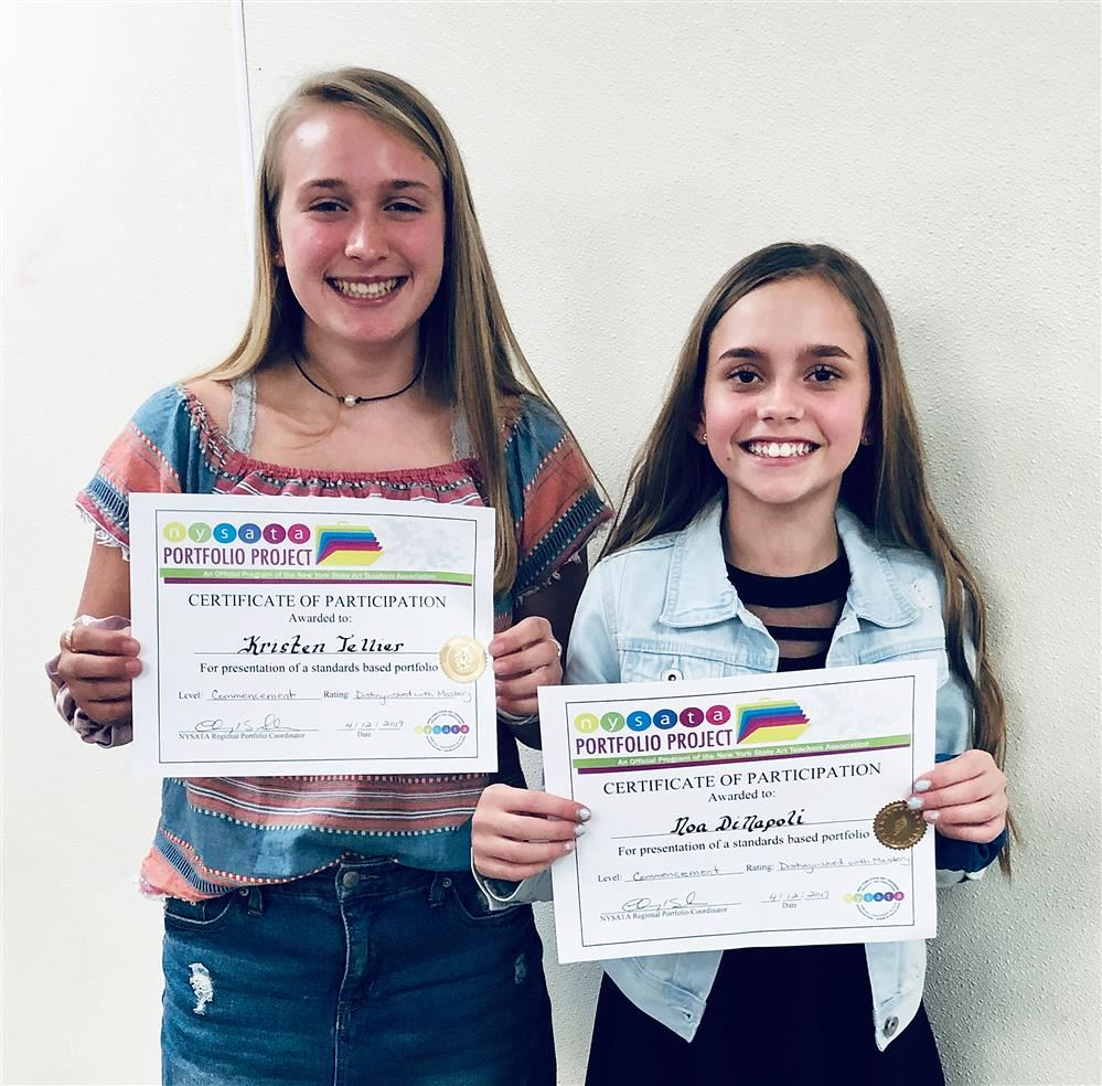 SAYVILLE MIDDLE SCHOOL STUDENTS' PORTFOLIO PROJECTS GARNER DISTINGUISHED AWARDS