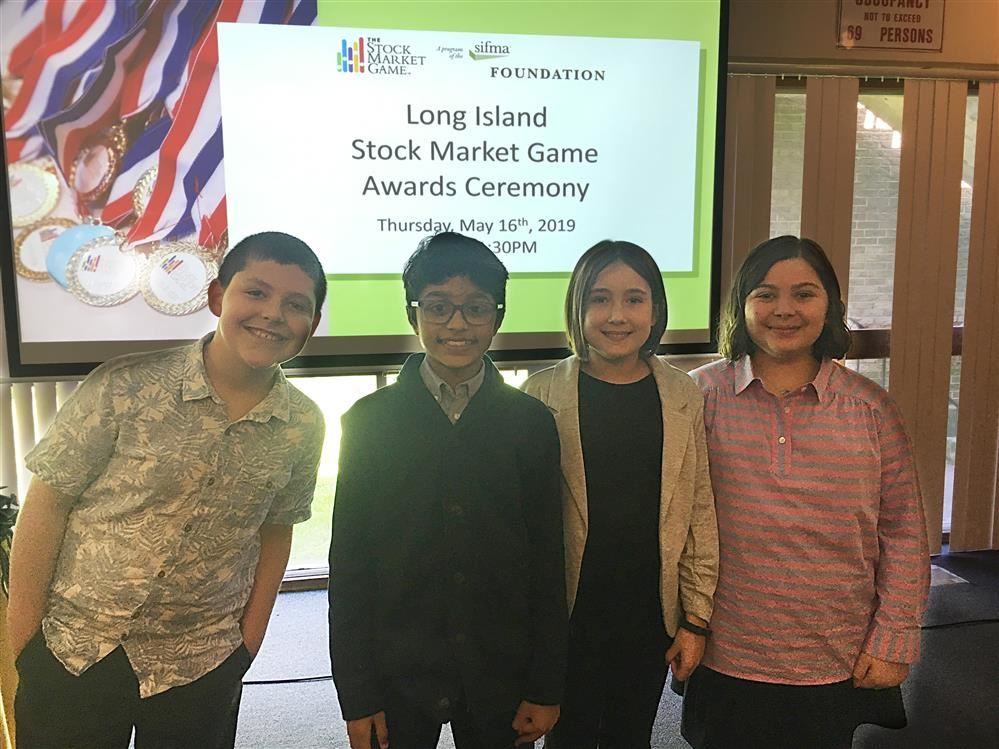 Sunrise Drive Students Win in the Stock Market Game