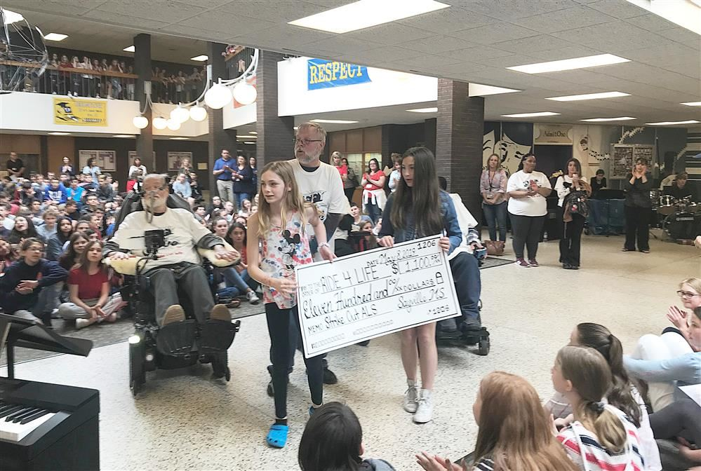 Tidings Online / RIDE FOR LIFE Visits Sayville Middle School