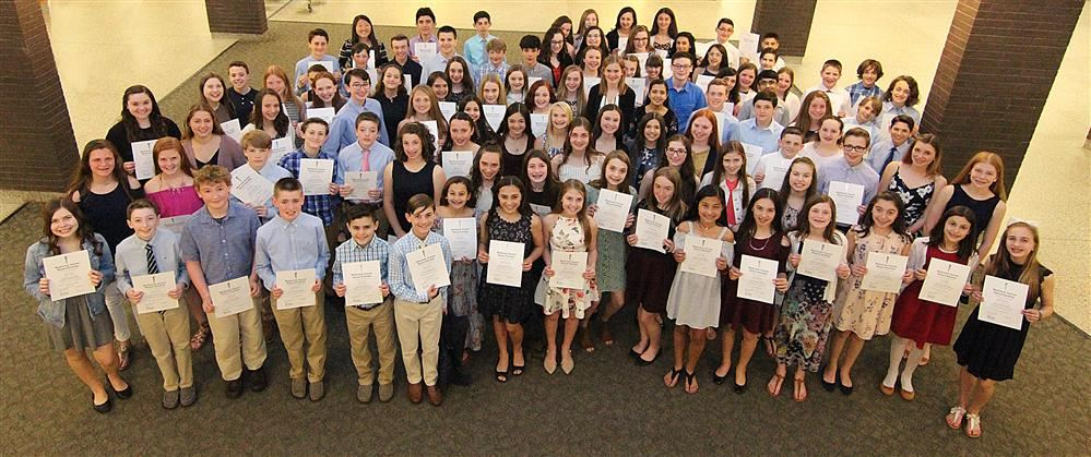 2019 Inductees to the National Junior Honor Society