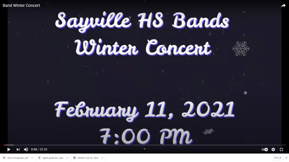 HS Band -  2021 Winter Concert Link