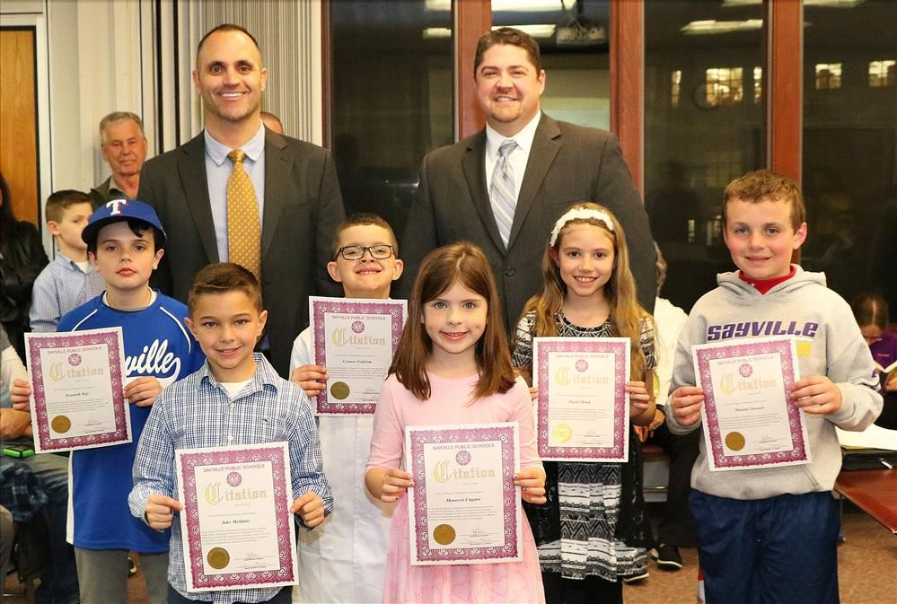 Sunrise Drive Science Fair Winners