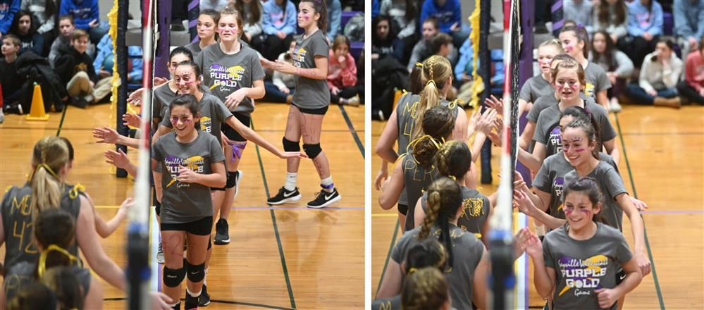 Girls  in Purple Gold Volleyball Charity competition