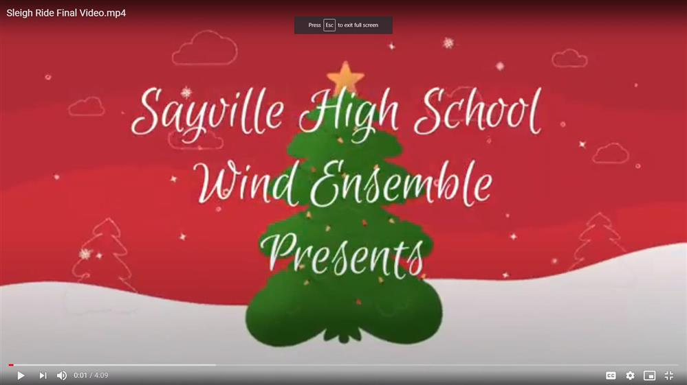 Click on this image to view the virtual performance by the HS Wind Ensemble