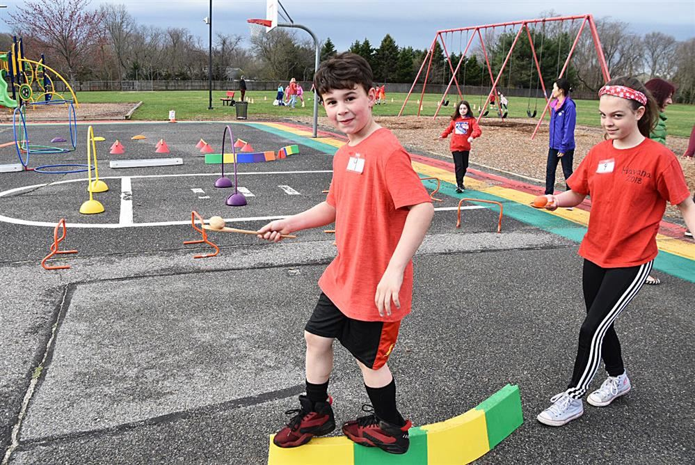 Students enjoyed the obstacle courses