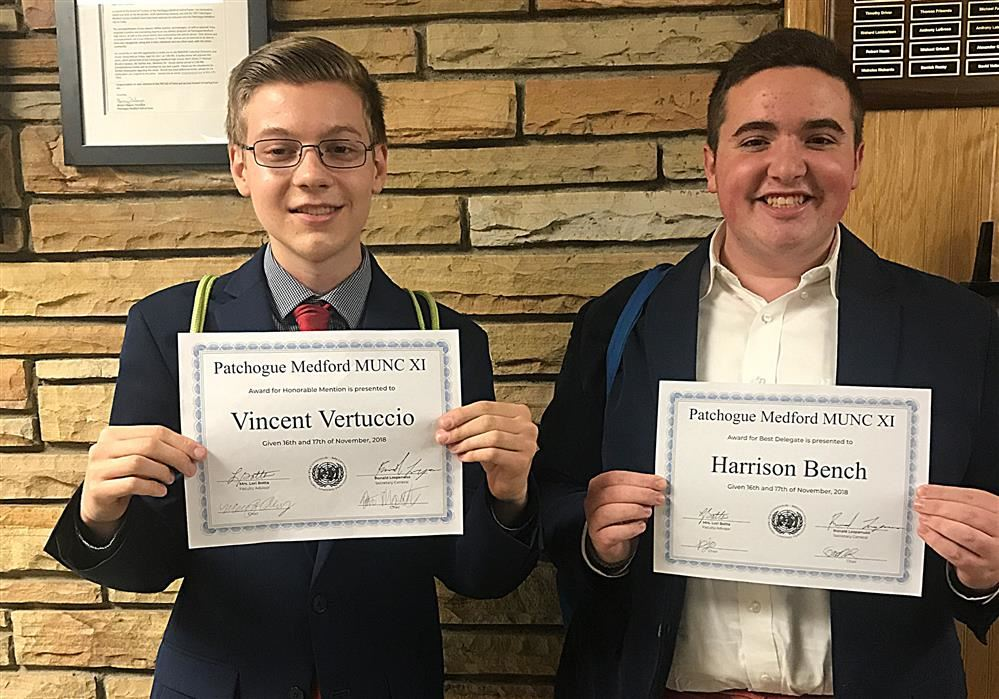 Award Winners at Model UN Conference 2018