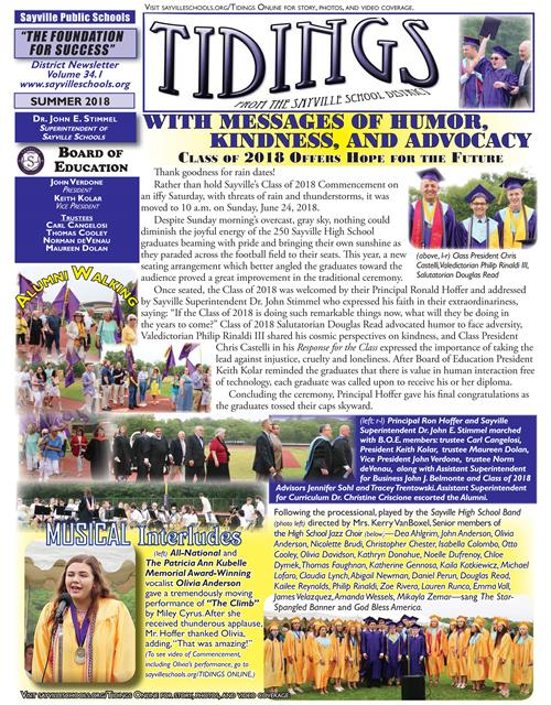 July 2018 Summer Issue of Tidings