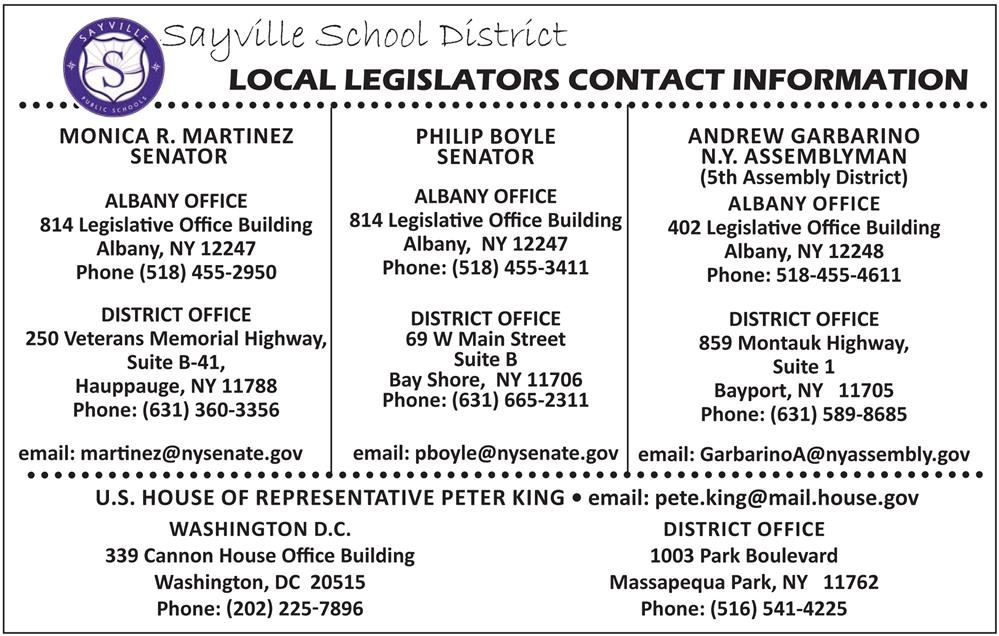 Local Legislators Contact Information