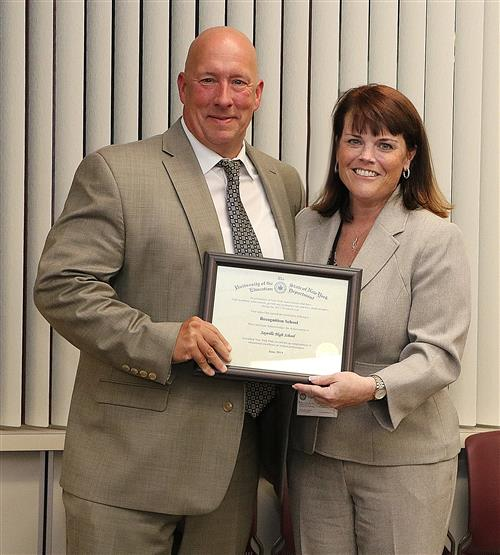 Principal Ron Hoffer and Assistant Superintendent for Instruction Dr. Christine Criscione
