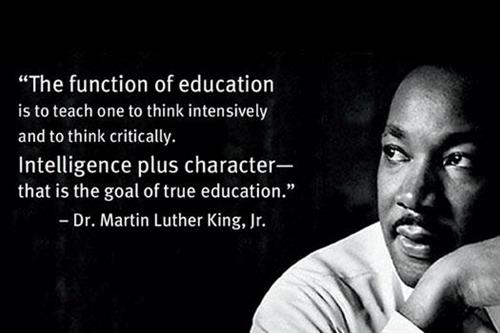 MLK Quote about function of education
