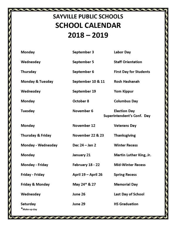 District District Calendar
