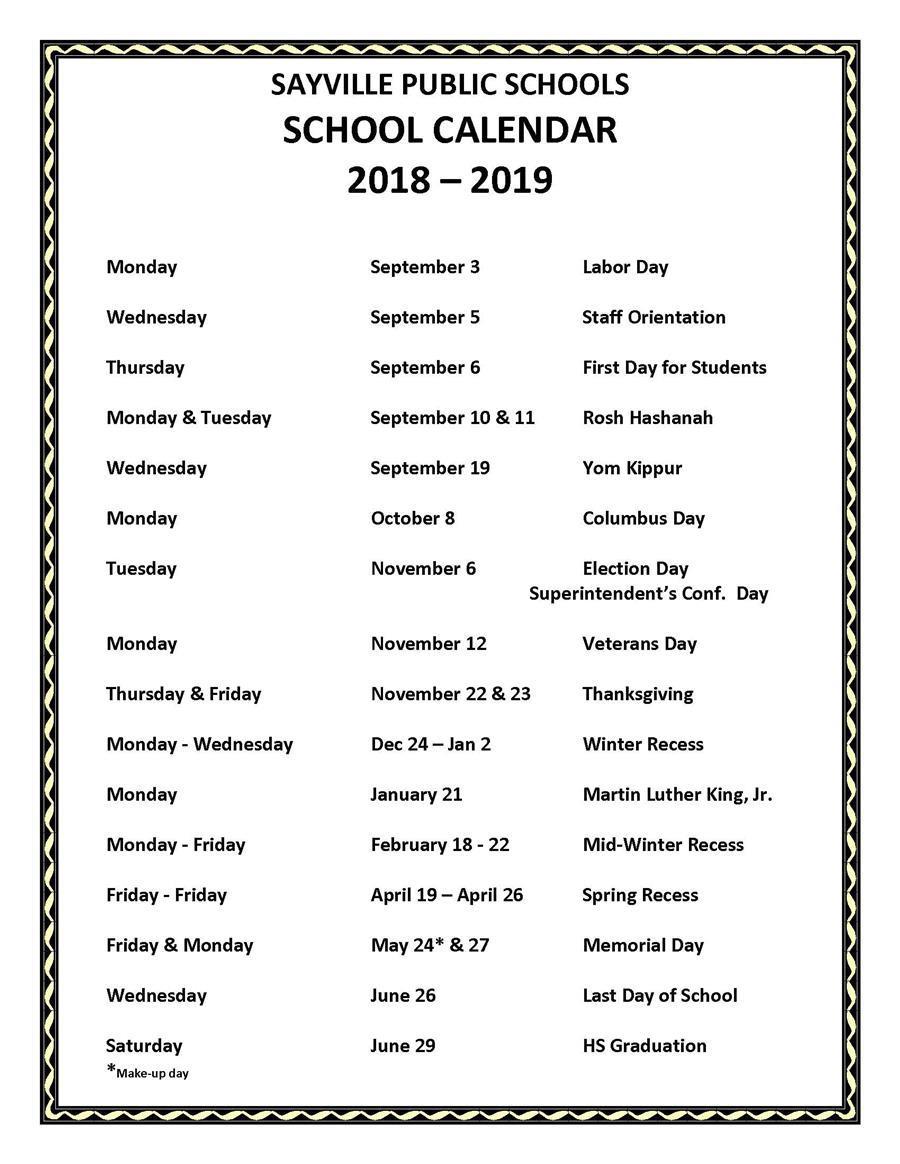 2020 And 2018 Calendar With Holidays Holiday Calendar / School Holiday Calendar